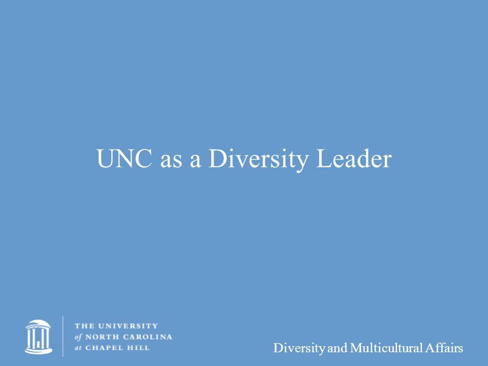 UNC as a Diversity Leader