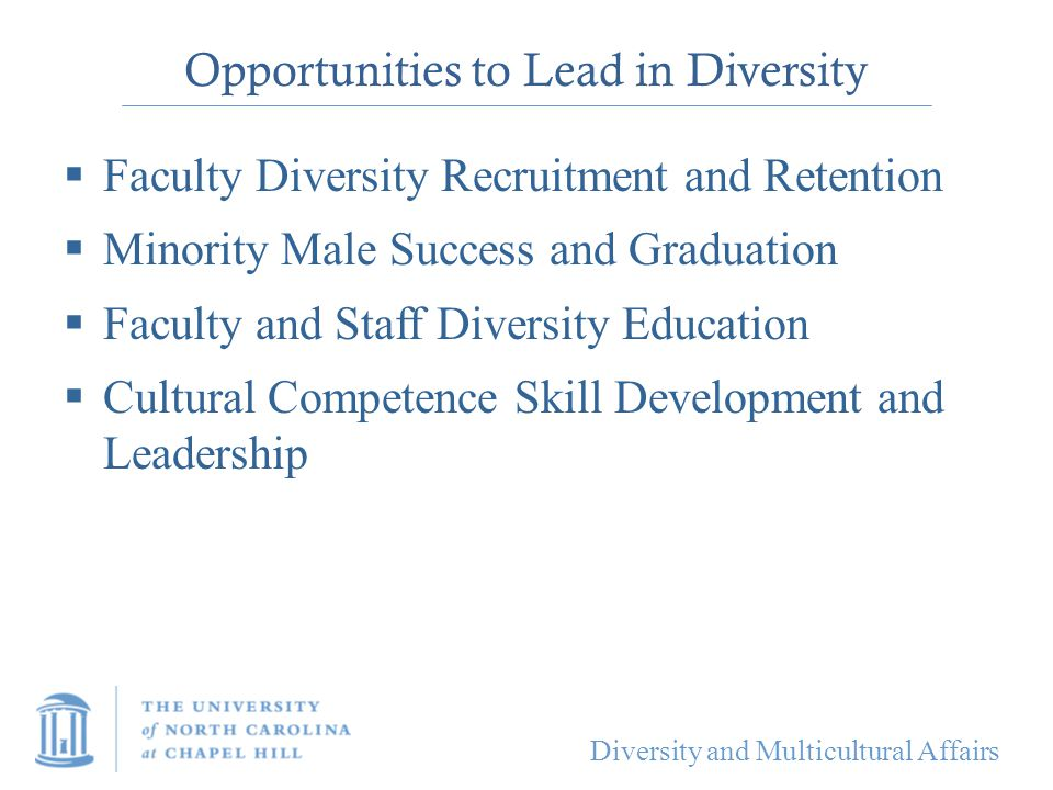 Opportunities to Lead in Diversity