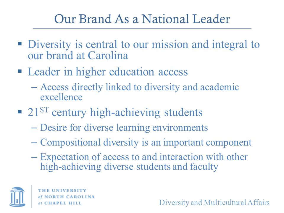 Our Brand As a National Leader