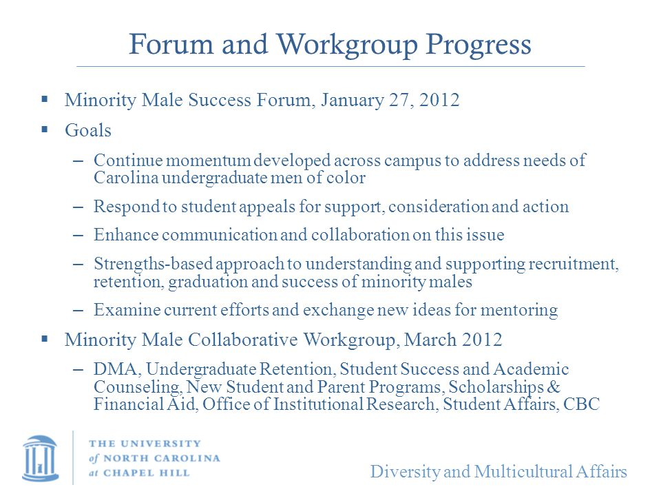 Forum and Workgroup Progress