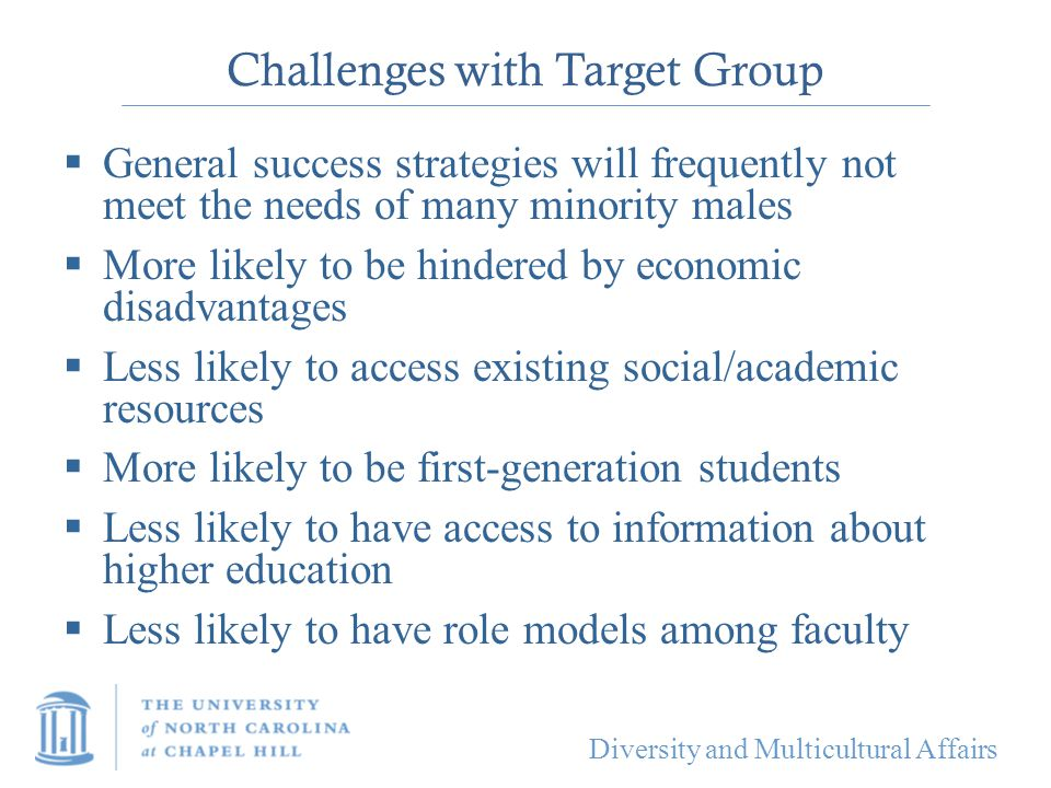 Challenges with Target Group