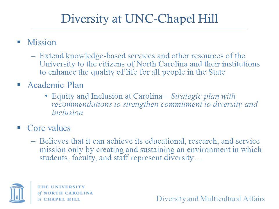 Diversity at UNC-Chapel Hill