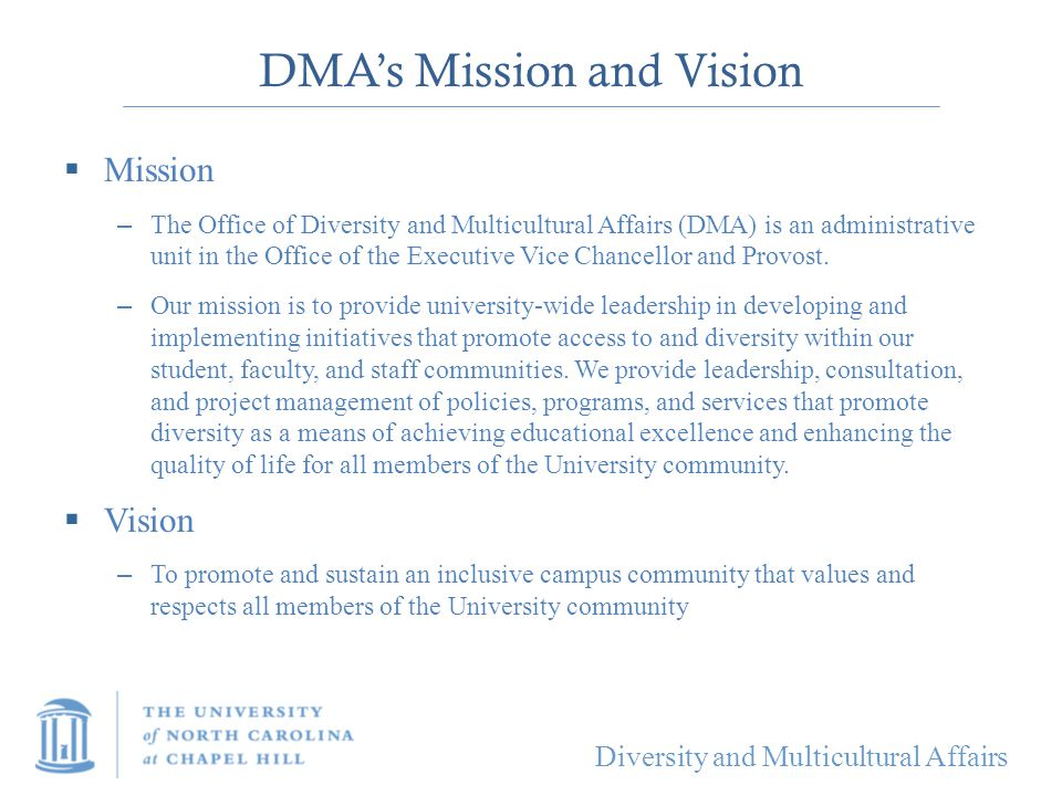 DMA's Mission and Vision