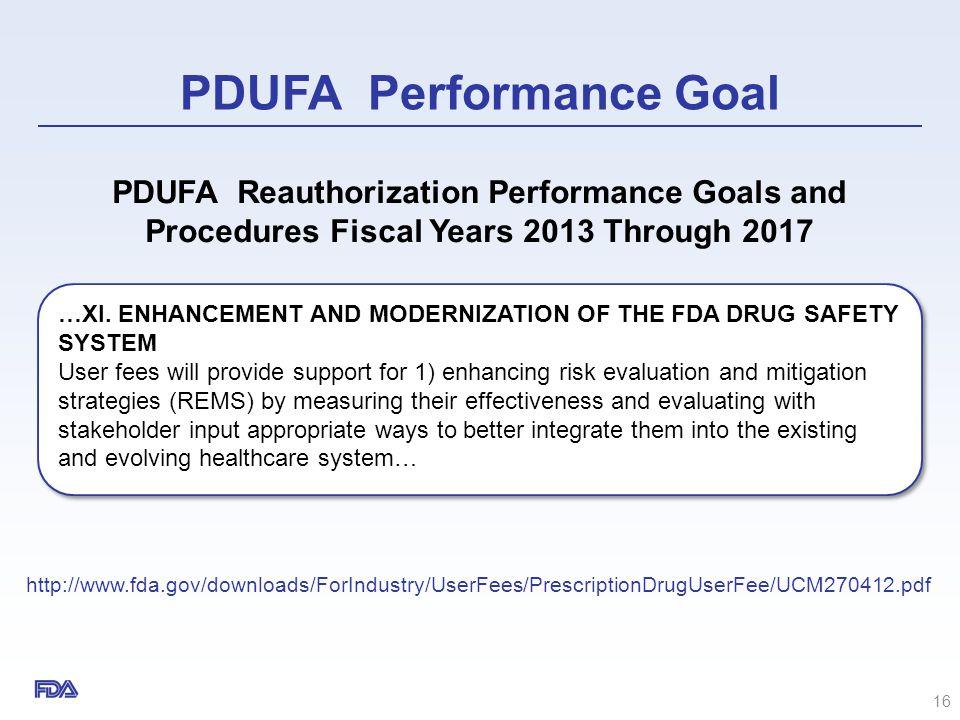 PDUFA Performance Goal