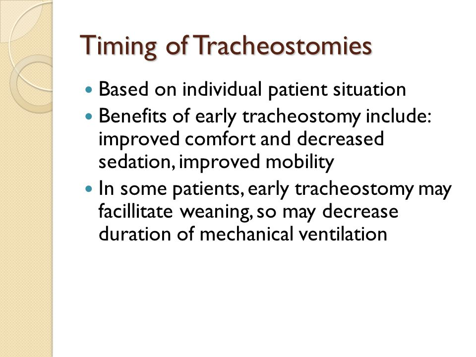 Timing of Tracheostomies