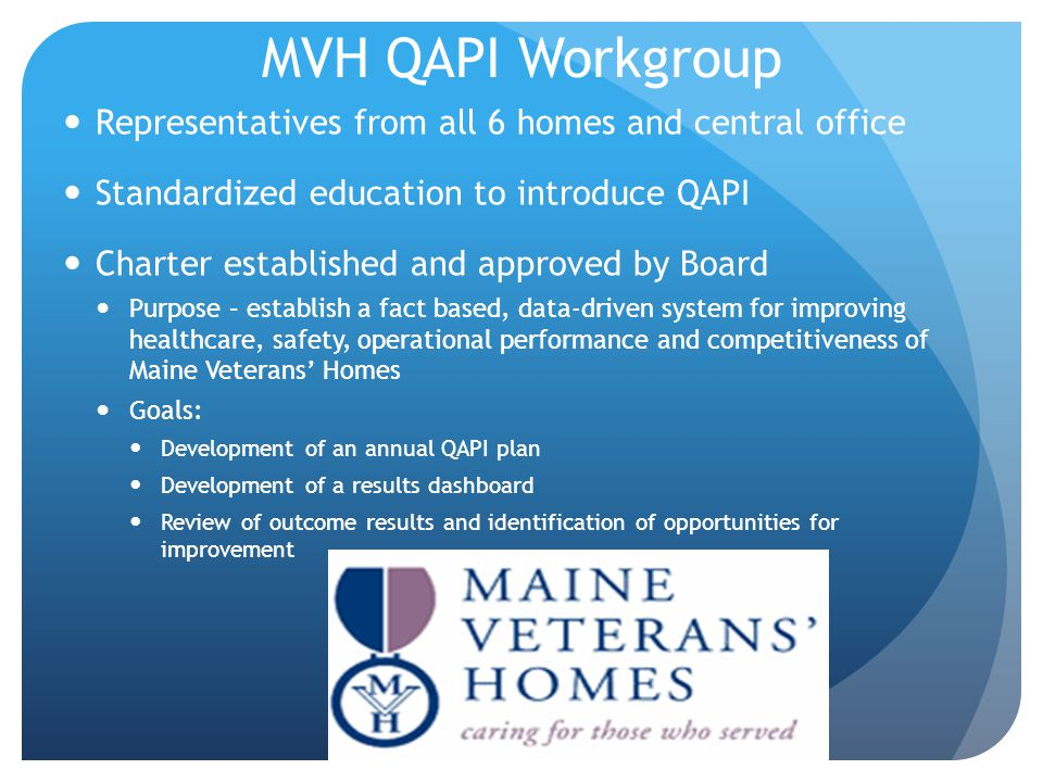 MVH QAPI Workgroup Representatives from all 6 homes and central office