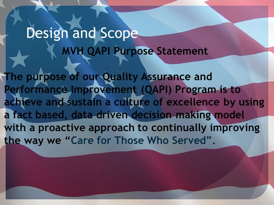 MVH QAPI Purpose Statement