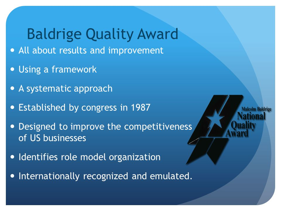 Baldrige Quality Award