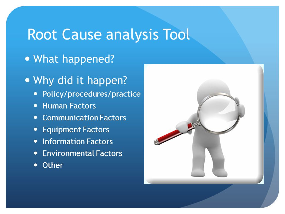 Root Cause analysis Tool