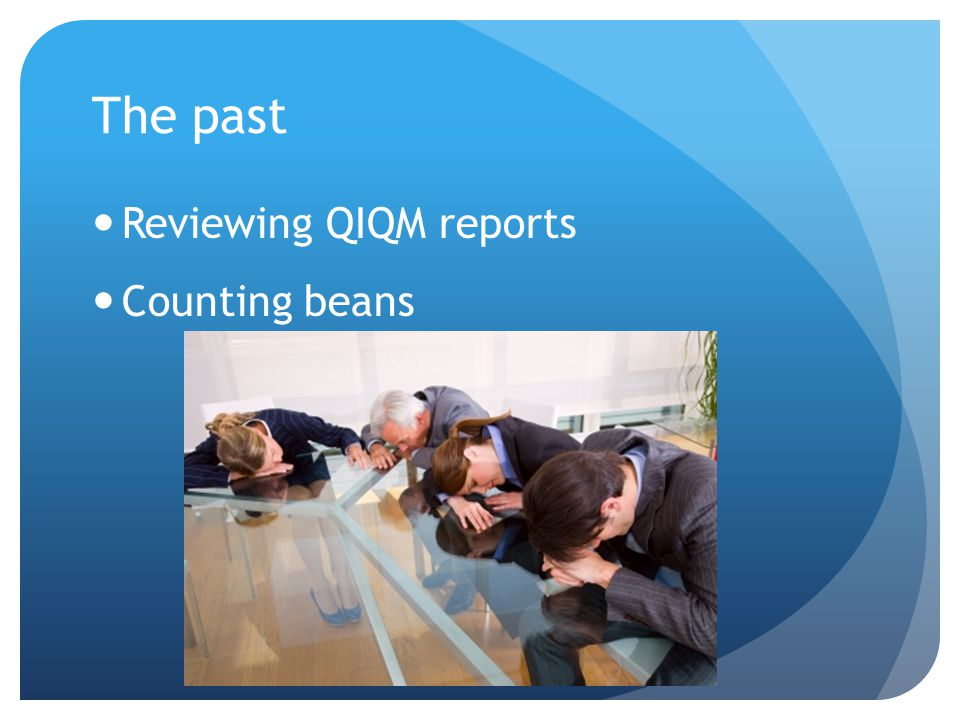 The past Reviewing QIQM reports Counting beans