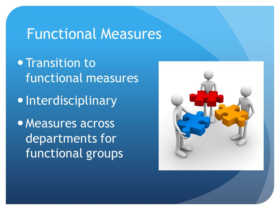 Functional Measures Transition to functional measures