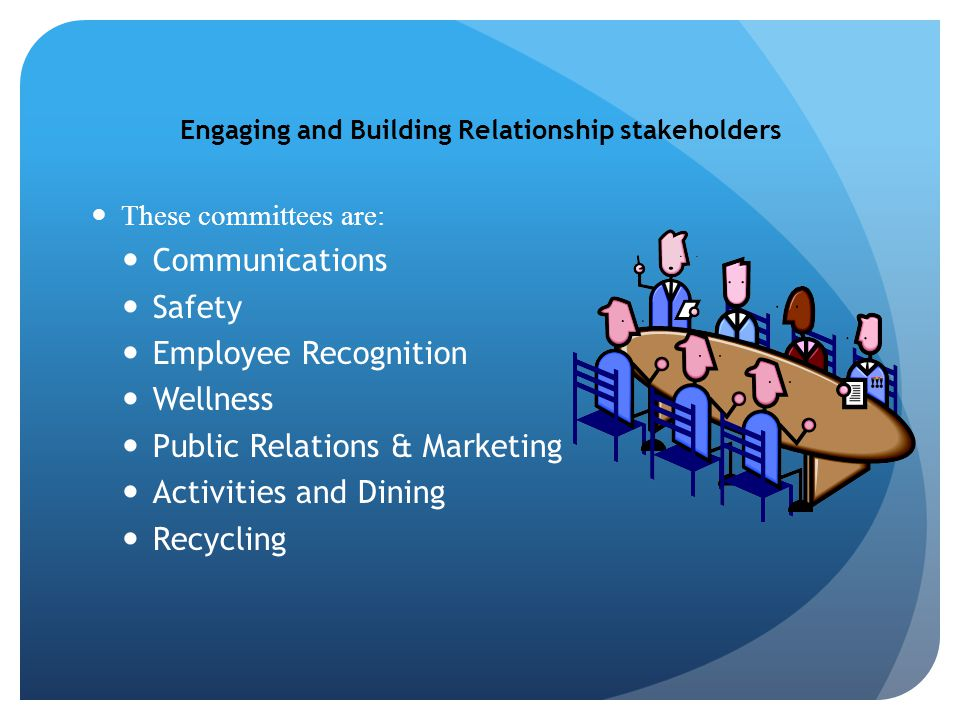 Engaging and Building Relationship stakeholders