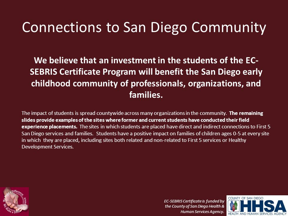 Connections to San Diego Community