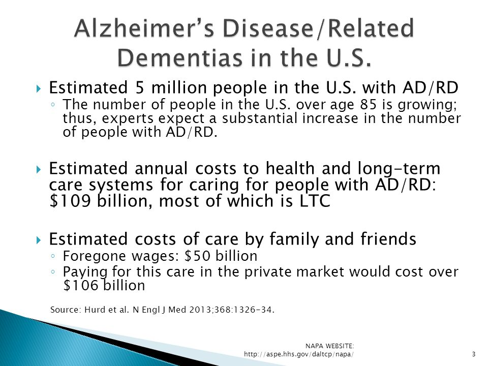 Alzheimer's Disease/Related Dementias in the U.S.