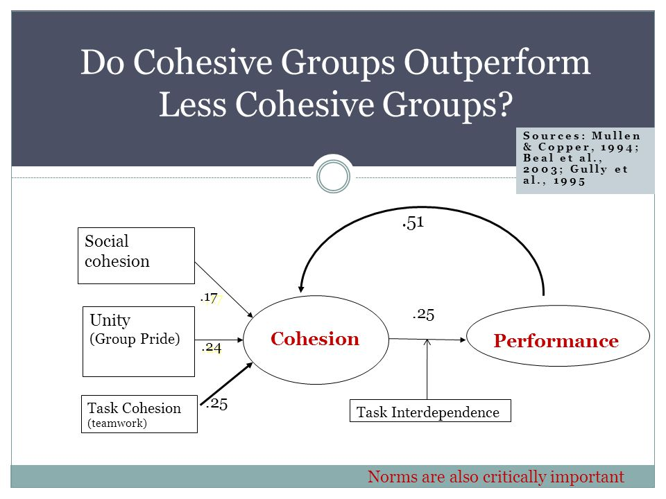 Do Cohesive Groups Outperform Less Cohesive Groups