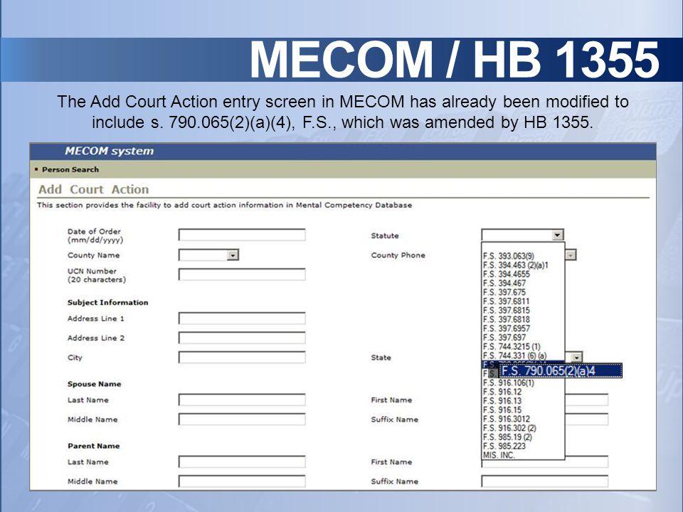 MECOM / HB 1355