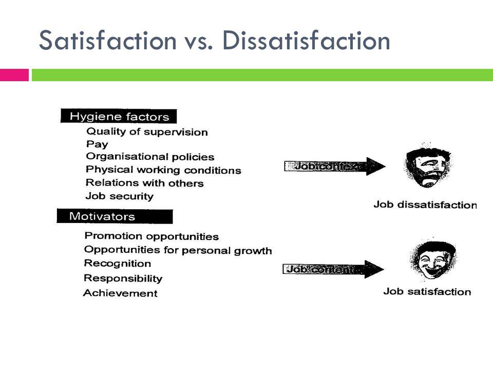 Satisfaction vs. Dissatisfaction
