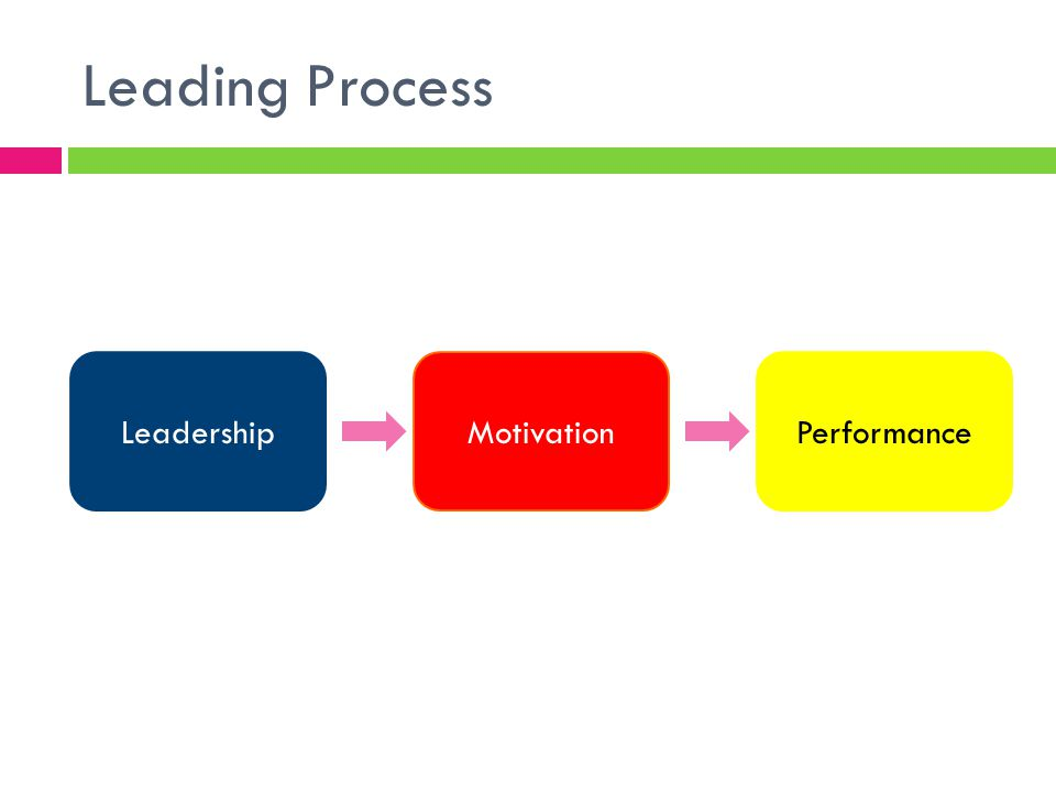 Leading Process Leadership Motivation Performance