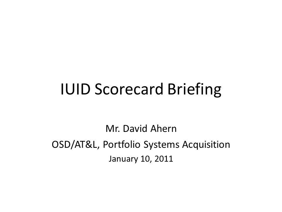 IUID Scorecard Briefing