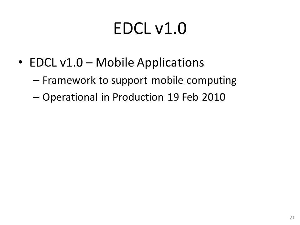 EDCL v1.0 EDCL v1.0 – Mobile Applications