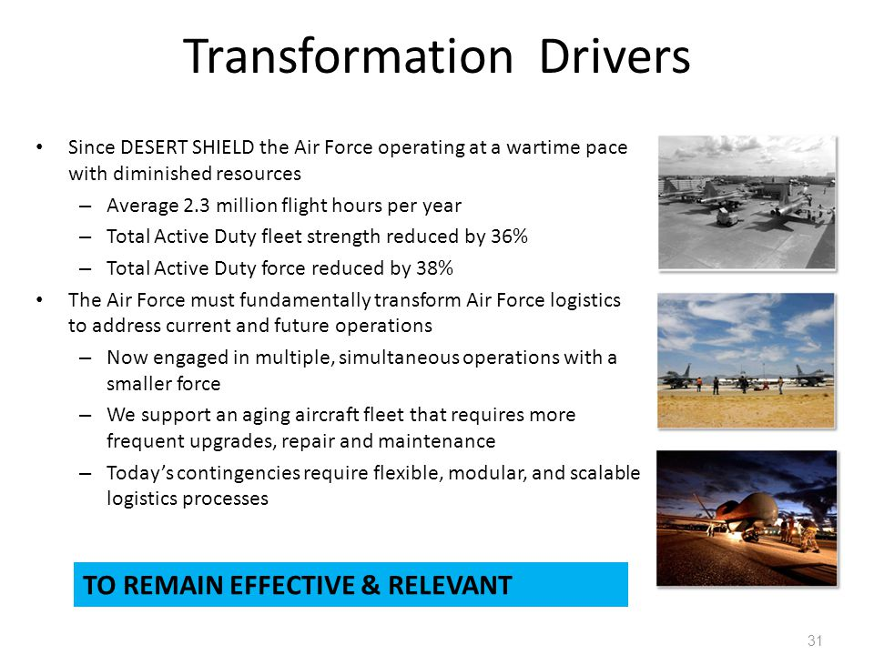 Transformation Drivers