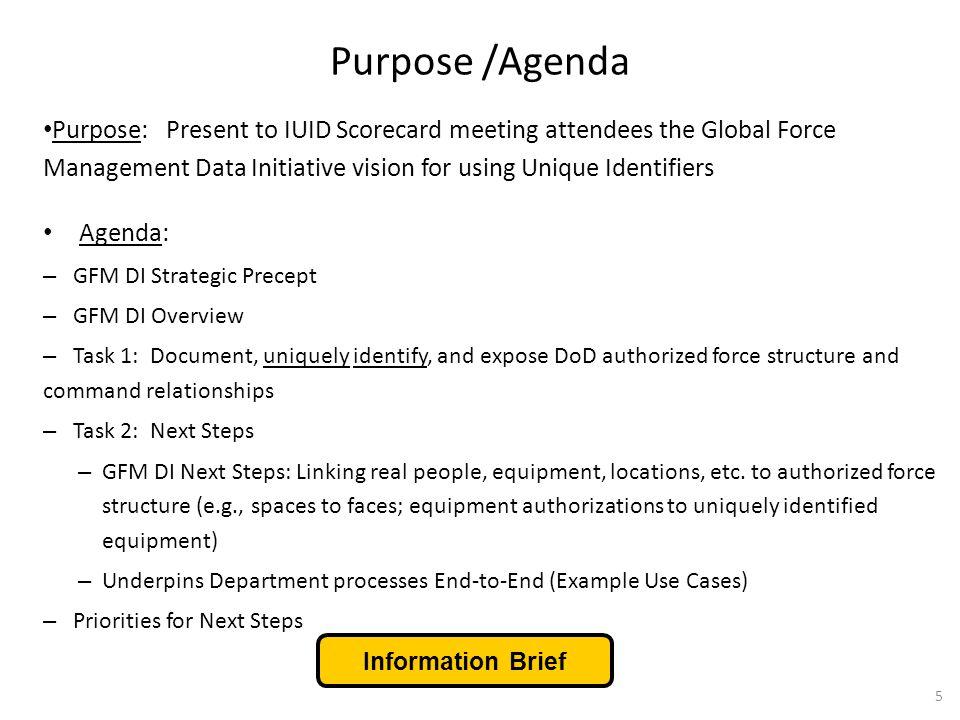 Purpose /Agenda