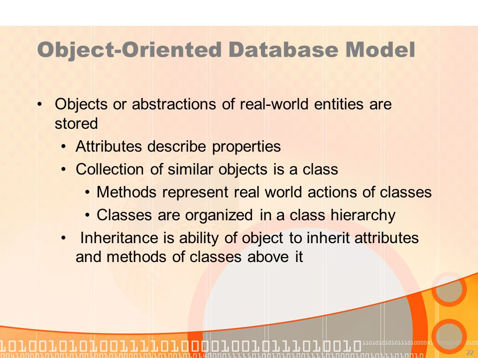 Object-Oriented Database Model