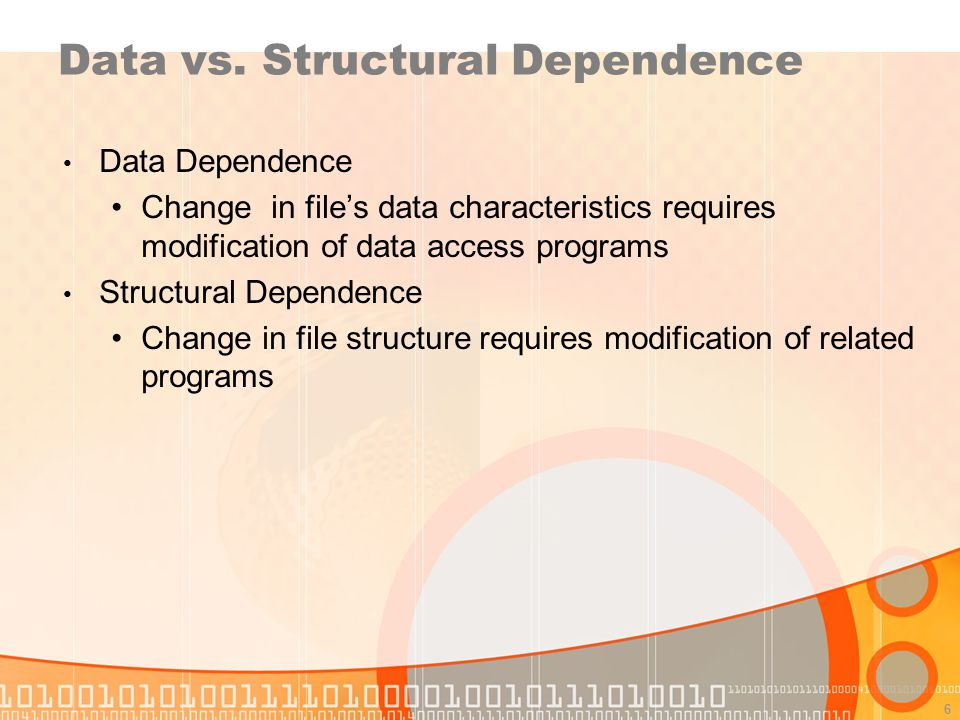 Data vs. Structural Dependence