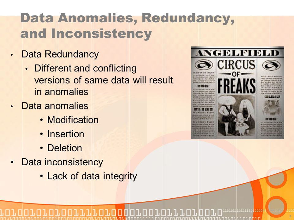 Data Anomalies, Redundancy, and Inconsistency