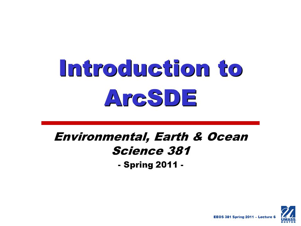 Introduction to ArcSDE