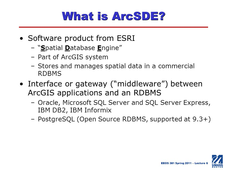 What is ArcSDE Software product from ESRI