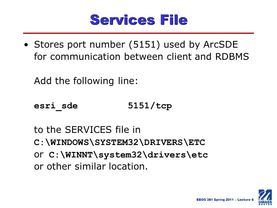 Services File