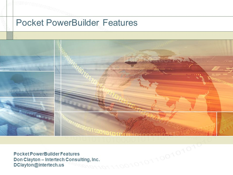 Pocket PowerBuilder Features
