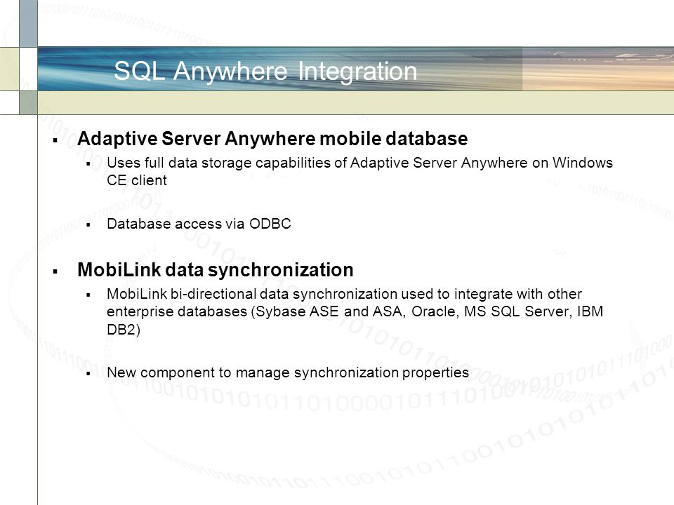 SQL Anywhere Integration