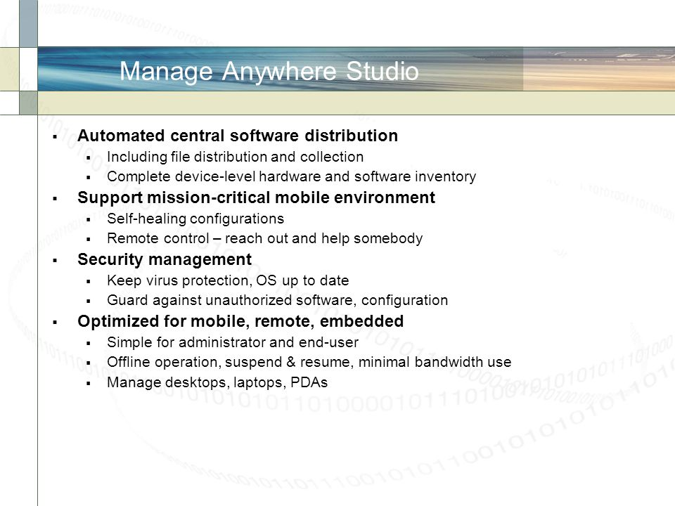 Manage Anywhere Studio