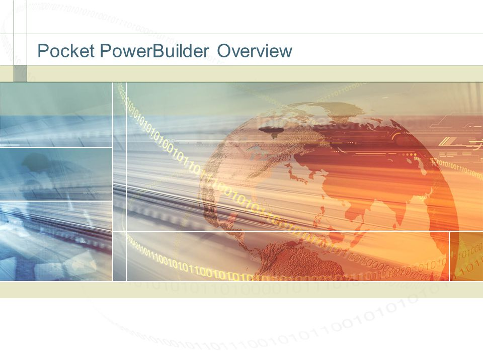 Pocket PowerBuilder Overview