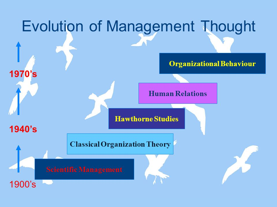 evolutin in management thought and the Evolution of management thought- free online tutorials for principles of management and organisational behaviour (12679) courses with.