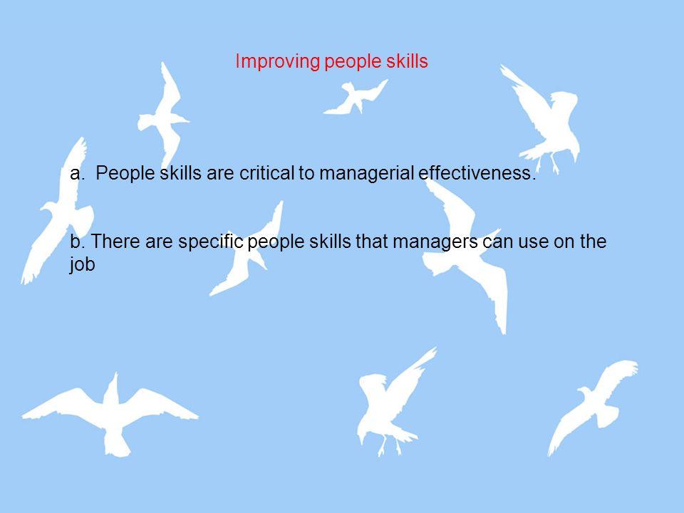 Improving people skills