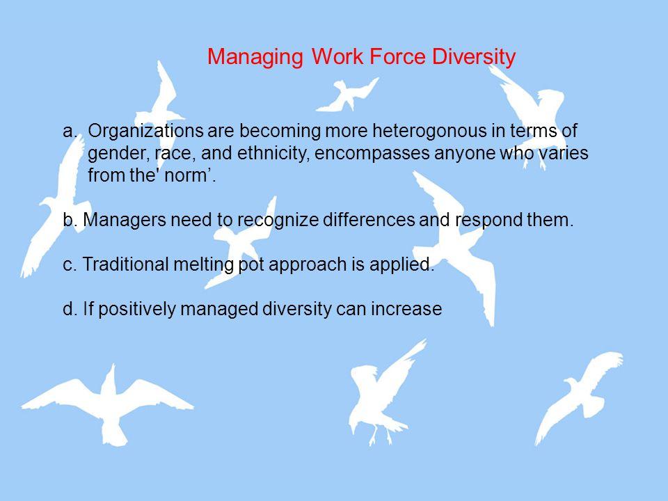 Managing Work Force Diversity