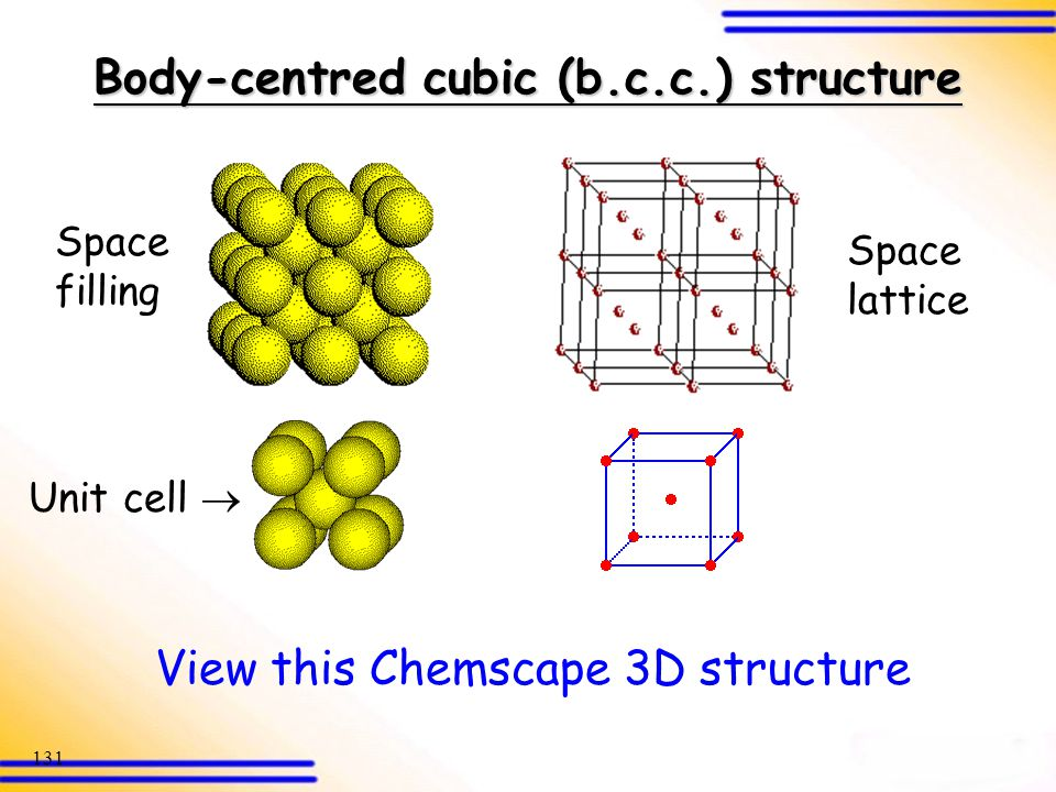 Body-centred cubic (b.c.c.) structure