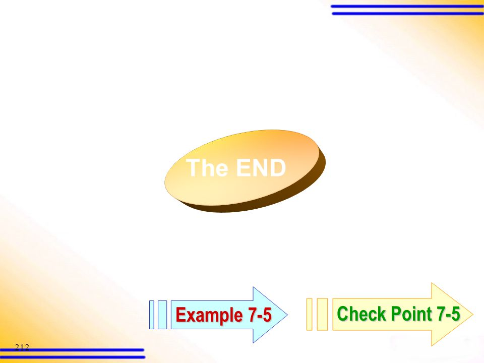 The END Example 7-5 Check Point 7-5