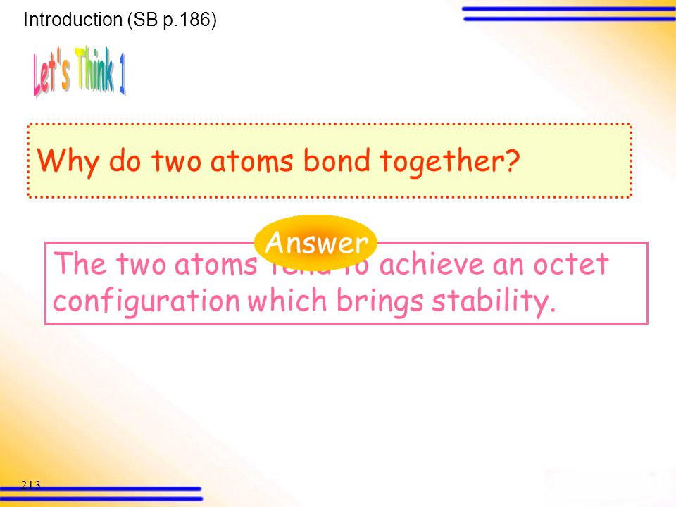Why do two atoms bond together
