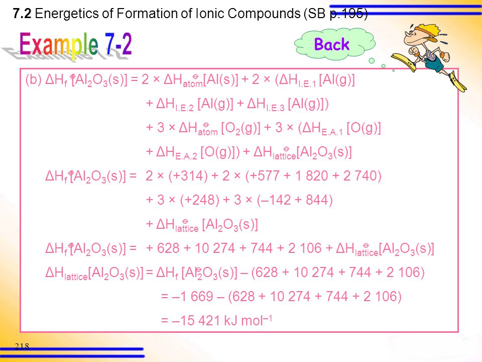 7.2 Energetics of Formation of Ionic Compounds (SB p.195)