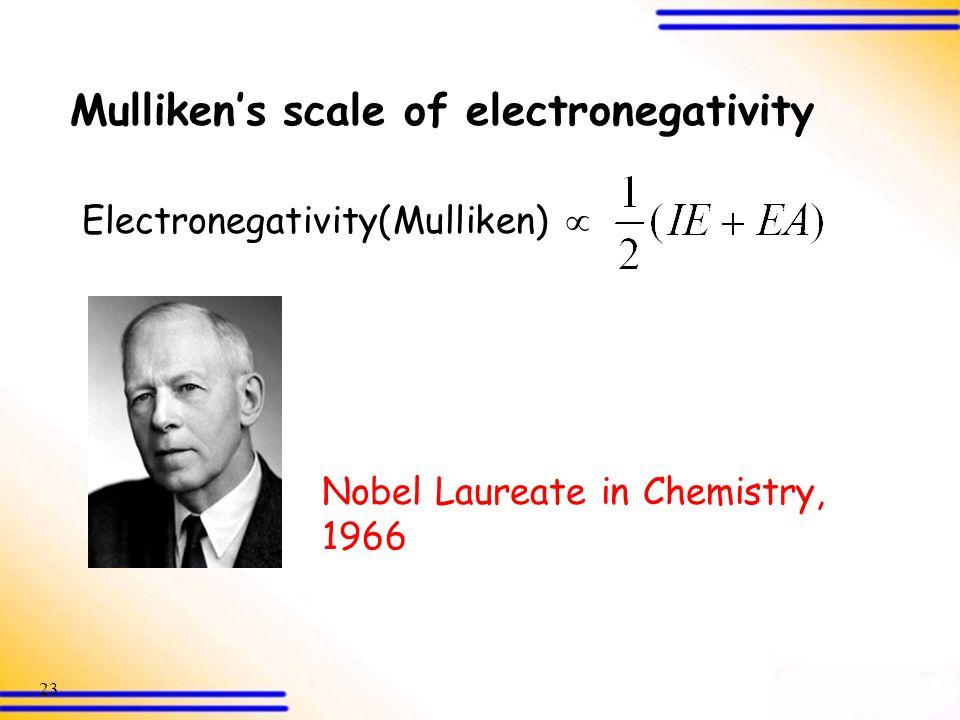 Mulliken's scale of electronegativity