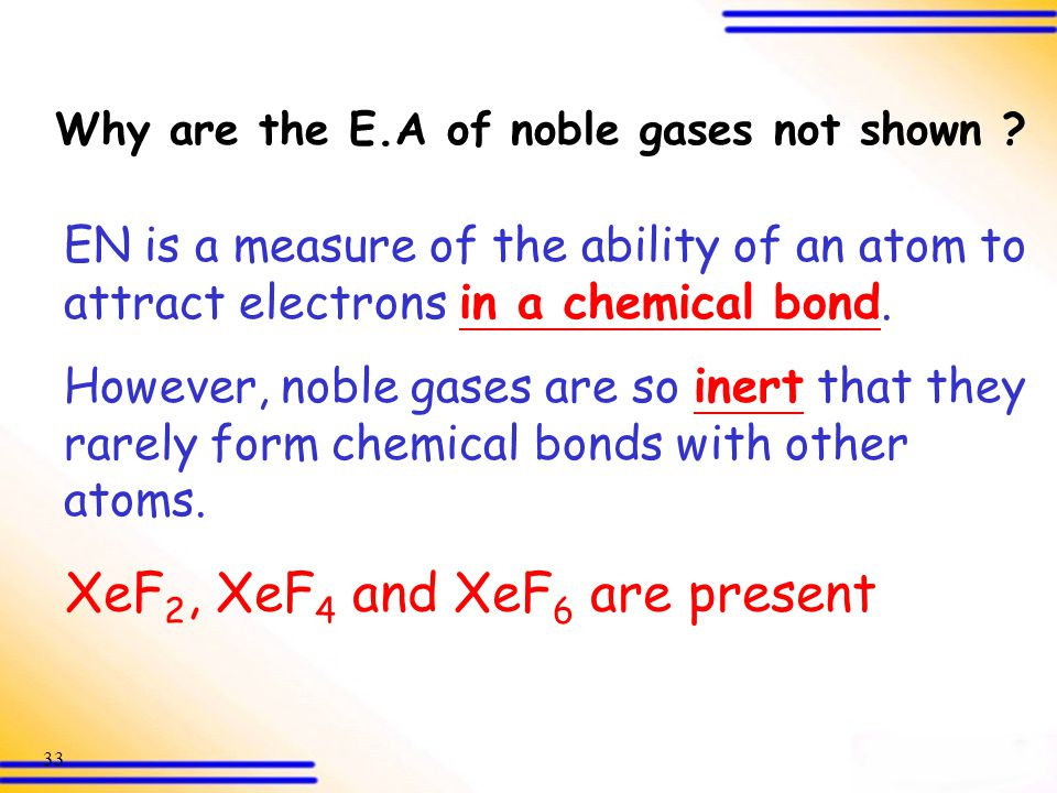 XeF2, XeF4 and XeF6 are present