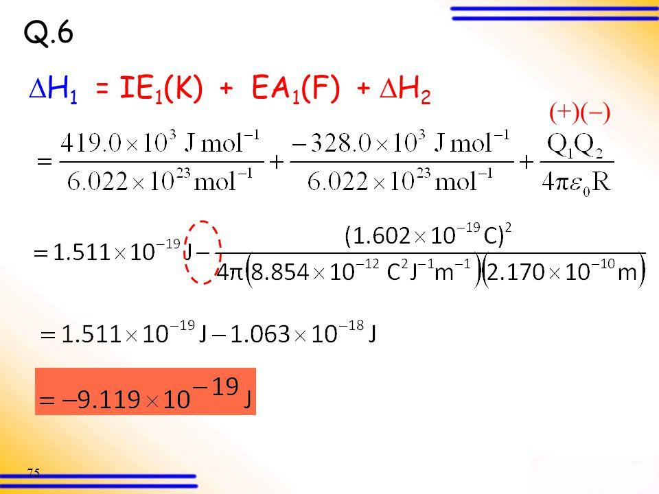 Q.6 H1 = IE1(K) + EA1(F) + H2 (+)()