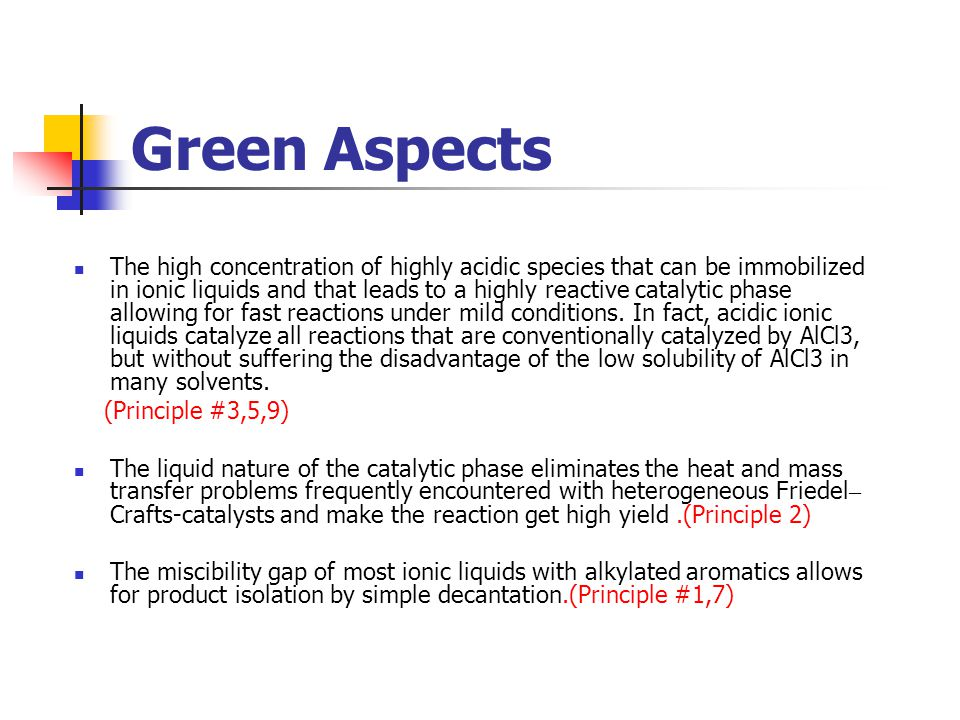 Green Aspects