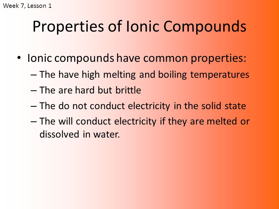 ppt properties of ionic compounds powerpoint presentation id 1130121