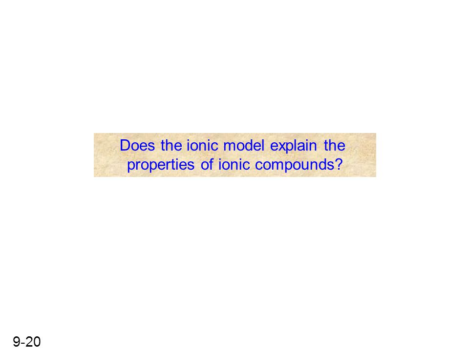 Does the ionic model explain the properties of ionic compounds