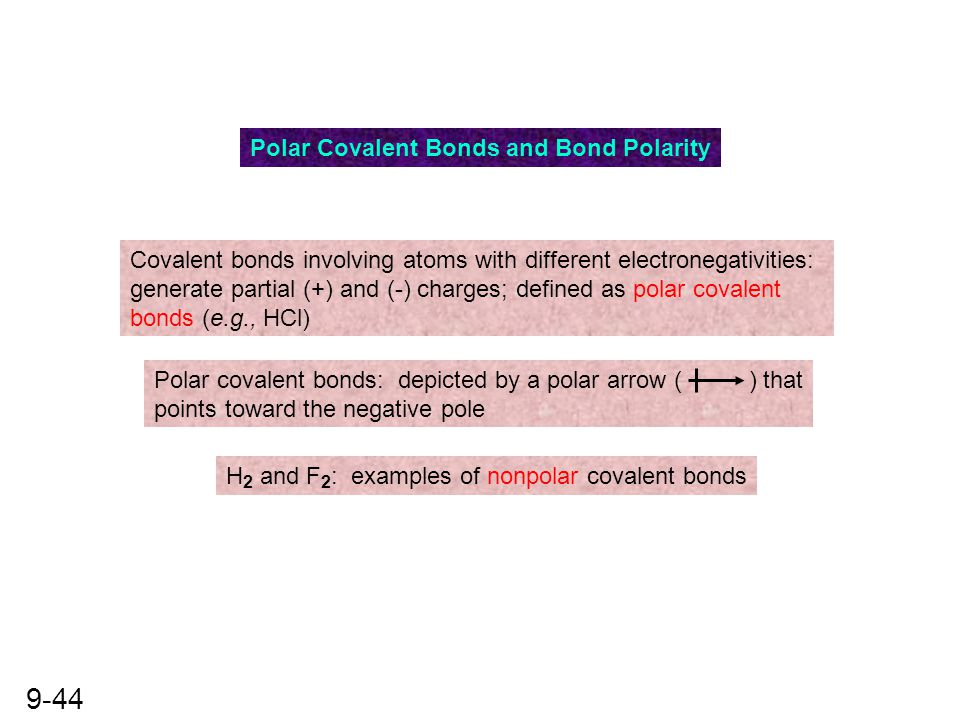 Polar Covalent Bonds and Bond Polarity